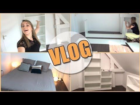 VLOG | Montage de dressing et mini ROOM TOUR de la chambre