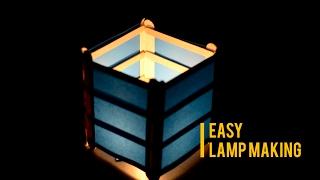 How to make a mini candle lamp | Turn ice cream sticks to beautiful lamp/lantern | Life Hacks |