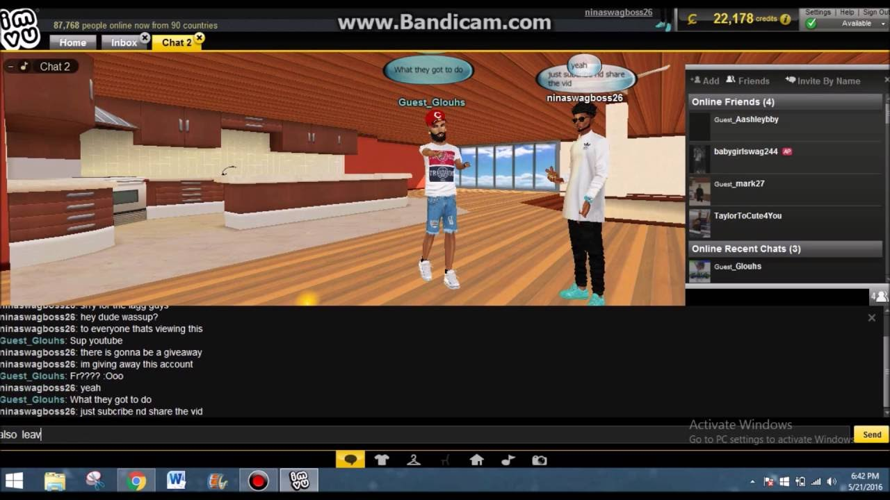 Free Imvu Gifts and ap and vip accounts giveaways!!!! by Official Piey