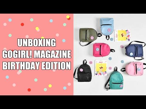 UNBOXING GOGIRL! MAGAZINE BIRTHDAY EDITION