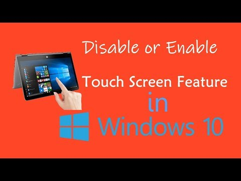 Disable Touch Screen In Windows 10 | PCGUIDE4U