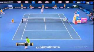 2011 Australian Open Final - 39 shot rally  Novak Djokovic vs Andy Murray