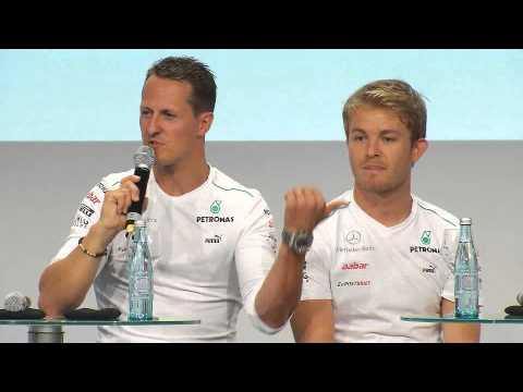 Michael und Nico beim FOTA Fan-Forum in Stuttgart