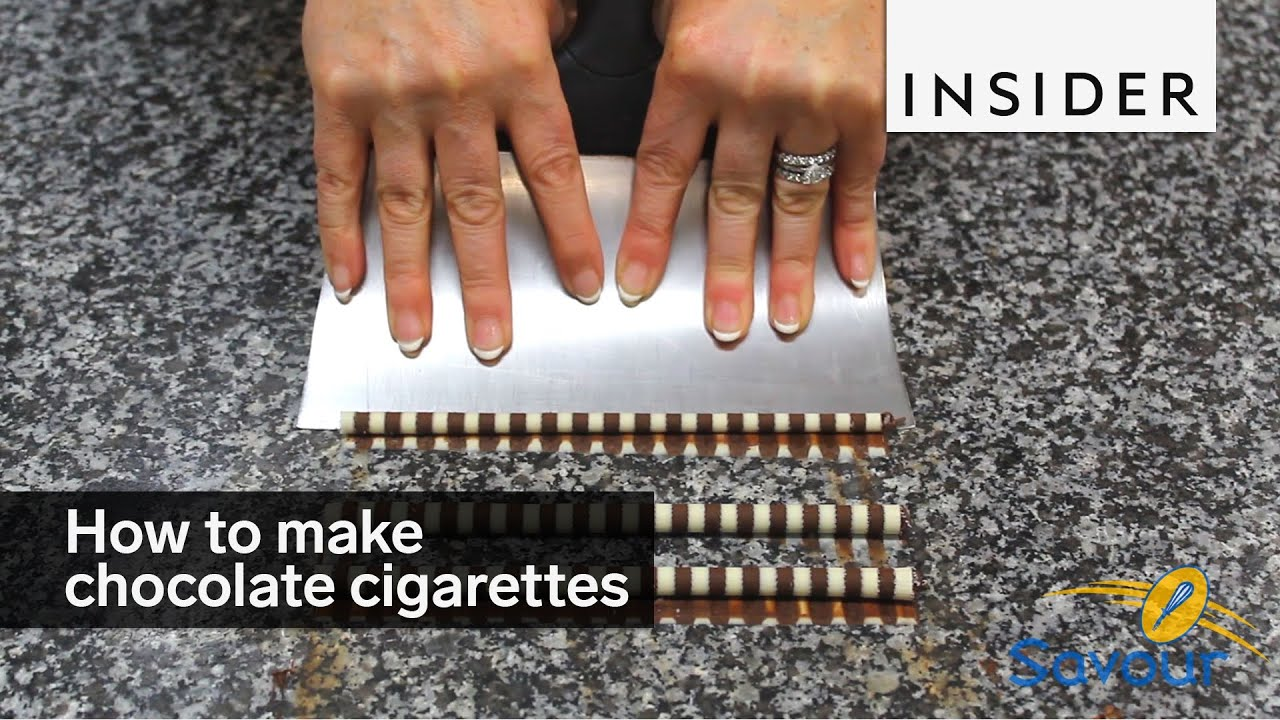 How To Make Chocolate Cigarettes