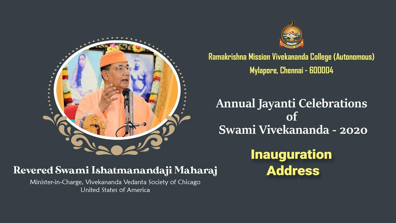 Annual Swami Vivekananda Jayanti celebration 2020 - Inauguration