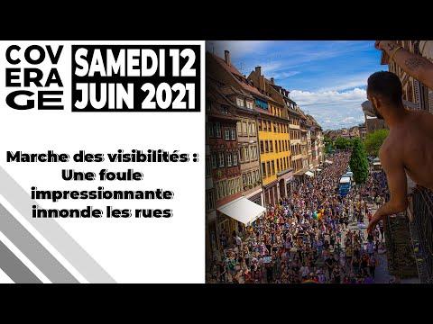 MARCHE DES VISIBILITÉS #LGBT : AMBIANCE ÉLECTRIQUE - #STRASBOURG (12/06/2021)
