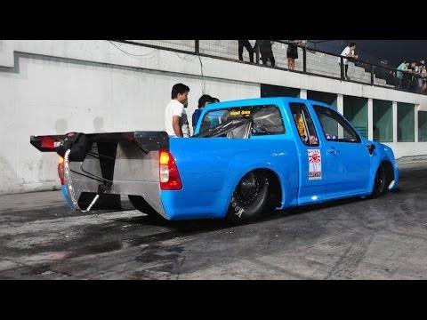 วิดีโอในรถกระบะสเปซเฟรมของ มนตรี ดีเซล (Pickup Space Frame Drag Diesel by Montri Diesel)