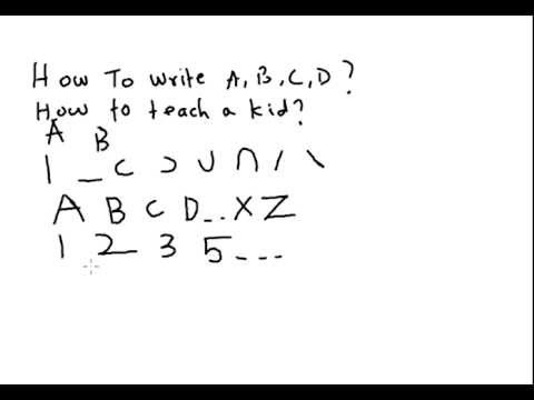 A very simple way to teach kids on how to write English alphabets ...