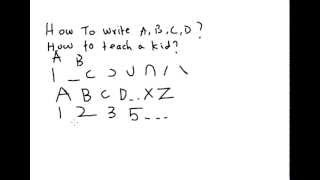 A very simple way to teach kids on how to write English alphabets