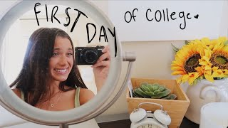 my FIRST DAY of college vlog