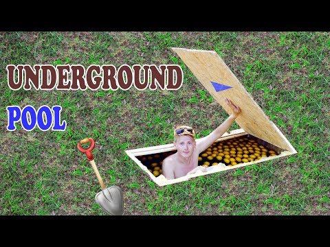 POOL UNDER THE GROUND  UNDERGROUND POOL  DIY