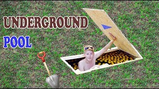 POOL UNDER THE GROUND - UNDERGROUND POOL - DIY