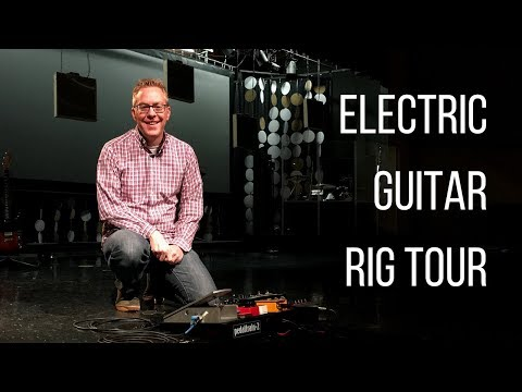 A tour of our church electric guitar setup