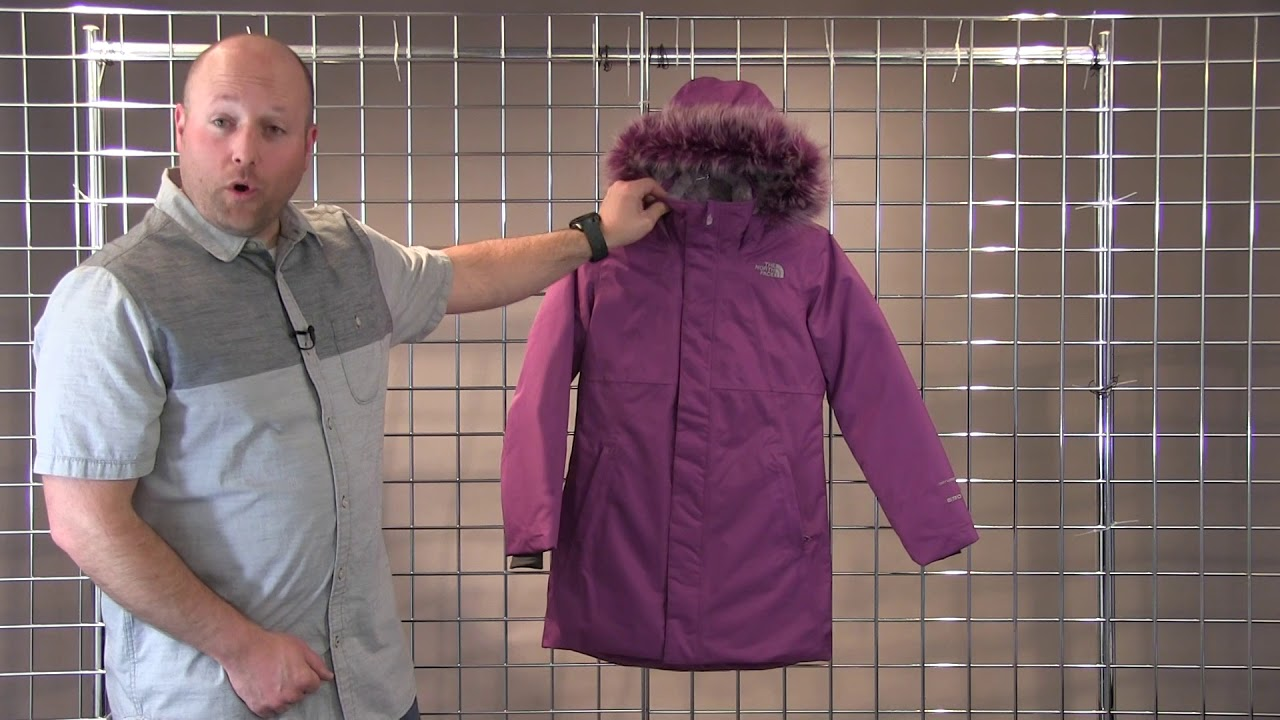 The North Face Girls Arctic Swirl Down Jacket 2017-2018 - YouTube 74cc32f48