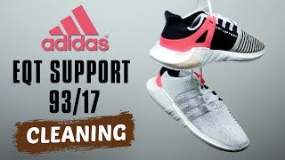 How to clean Adidas EQT Support 93/17 (Plus Video Bloopers)