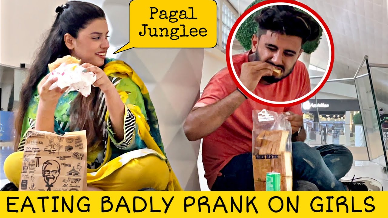 Eating Badly Prank on Cute Girls @That Was Crazy