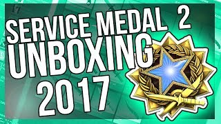 CSGO 2017 SERVICE MEDAL (LEVEL 2) UNBOXING!