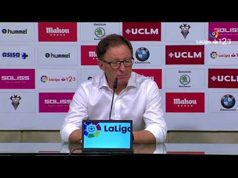 Rueda de prensa de Juan Antonio Anquela tras el Albacete Balompié vs Real Oviedo (2-1)