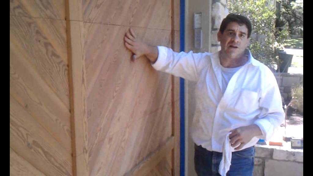 Refinishing A Wood Garage Door Part 1 Of 2 Youtube