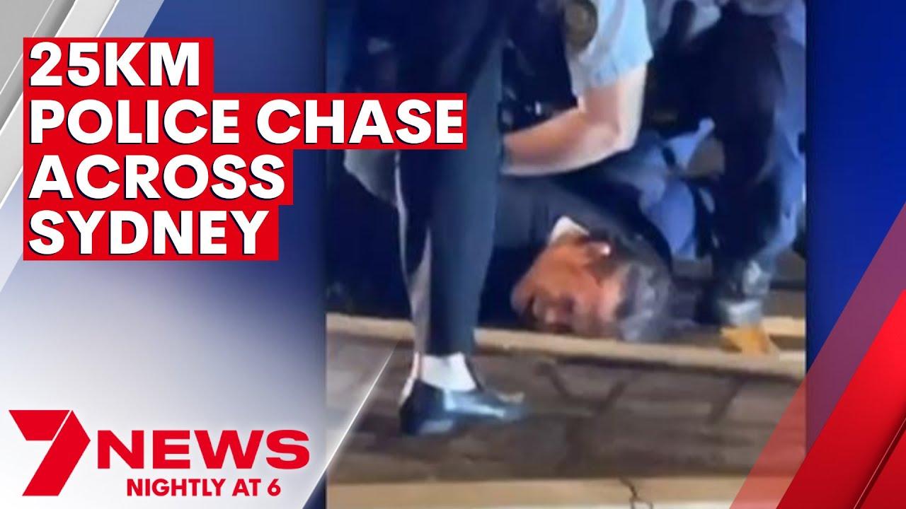 Police chase through Bidwill, Blacktown, Rouse Hill, Baulkham Hills & Bonnyrigg | 7NEWS