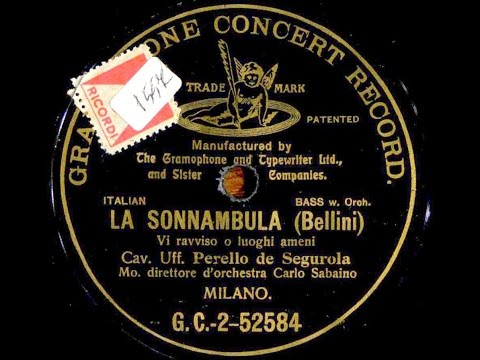 LA SONNAMBULA Recordings 1903-1924