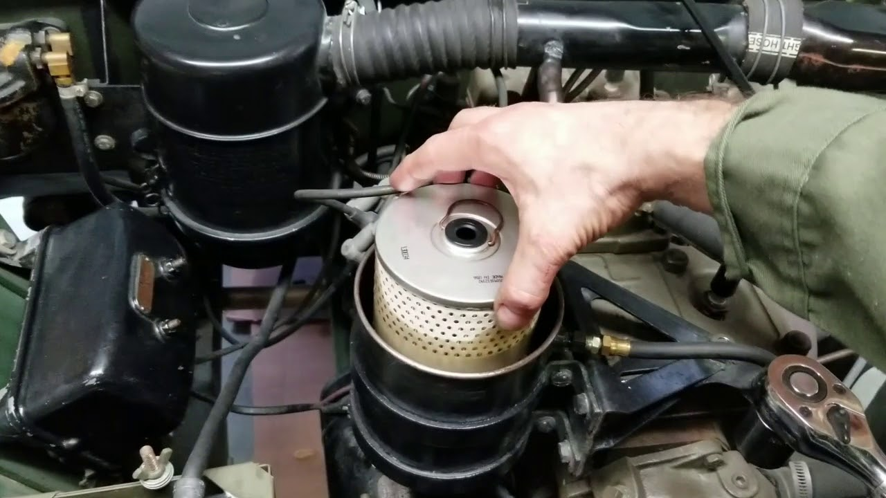 ww2 jeep oil and filter change service for willys mb ford gpw [ 1280 x 720 Pixel ]