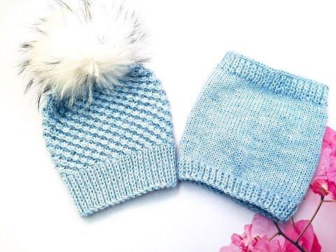Связать шапку для девочек спицами