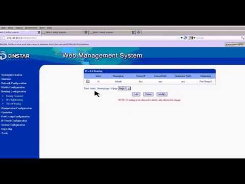 DINSTAR Device Configuration for VoIP