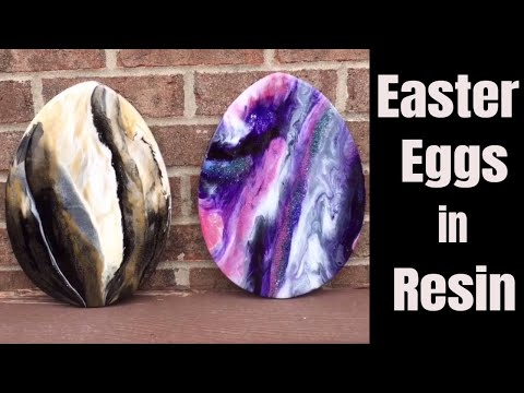 21. DIY Gorgeous Resin Marbling // Easter Eggs