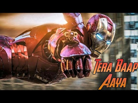 "Download 🔥🔥    ""TERA BAAP AAYA"" !! IRONMAN !! TONY STARK    Marvel Avengers Endgame.!! Hindi Music Video  "