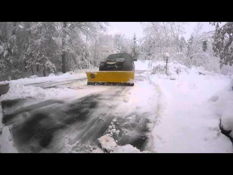 Snow Plow Prep Package Ford - Ford F150 FX4 Snow Plowing Driveway February 2016