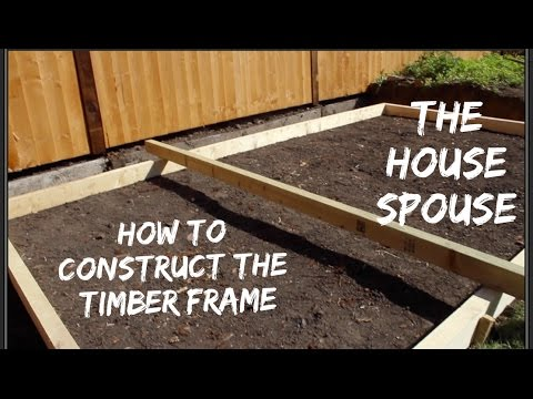 How to Lay a Concrete Base for a Shed - Constructing the frame
