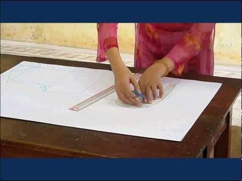 Cách vẽ và cắt thân trước áo sơ mi nữ cơ bản