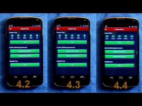 Android 4.2 vs 4.3 vs 4.4 on the Nexus 4