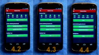 Android 4.2 vs 4.3 vs 4.4 on the Nexus 4