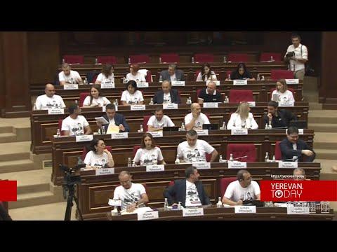 Տեսանյութ.Այսպես սկսեցին.«Հայաստան» դաշինքի պատգամավորները՝ Սյունիքի ազատազրկված համայնքապետերի նկարներով շապիկներով