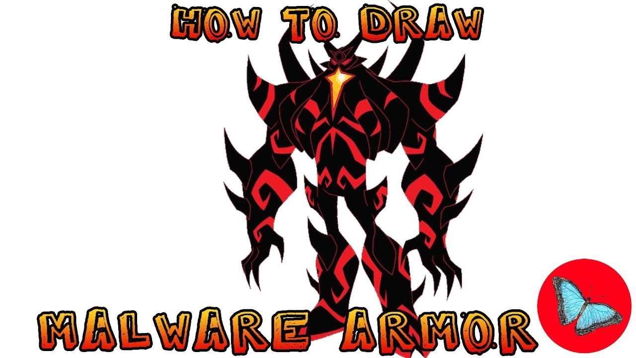 How To Draw Malware Armor From Ben 10 Drawing Animals Youtube