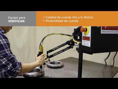 Equipo para verificar calidad de cuerda de corona |  Equipment to check thread quality of ring gear