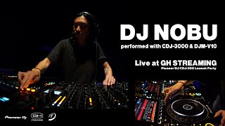 YouTube動画:DJ NOBU performed with CDJ-3000 & DJM-V10|GH STREAMING: Pioneer DJ CDJ-3000 Launch Party