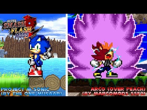 SSF2 Mods Showcase: Project M Sonic (Remade) + Acro (over Peach)