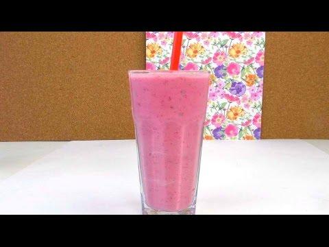 Himbeer-Milchshake - fruchtiger Shake mit Vanilleeis / einfach selber machen / Anleitung deutsch