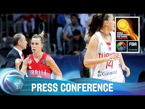 Turkey v Serbia - 1/4 Finals - Post game press conference - 2014 FIBA World Championship for Women