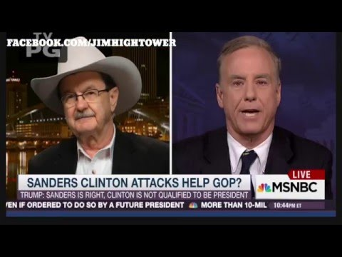 Jim Hightower on Bernie Sanders, MSNBC