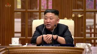 조선로동당 중앙위원회 제8기 제1차 정치국회의 진행