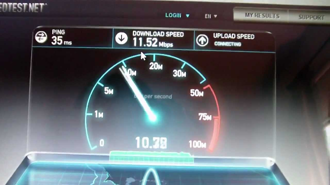 My Wireless Gateway/Modem and Speed Test - YouTube