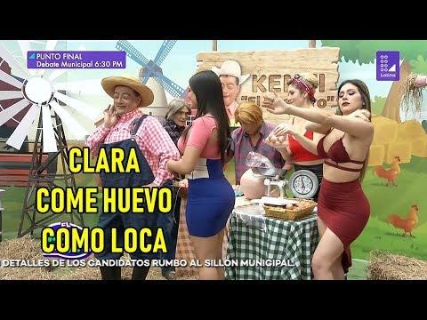 Clara Seminara come huevo como loca