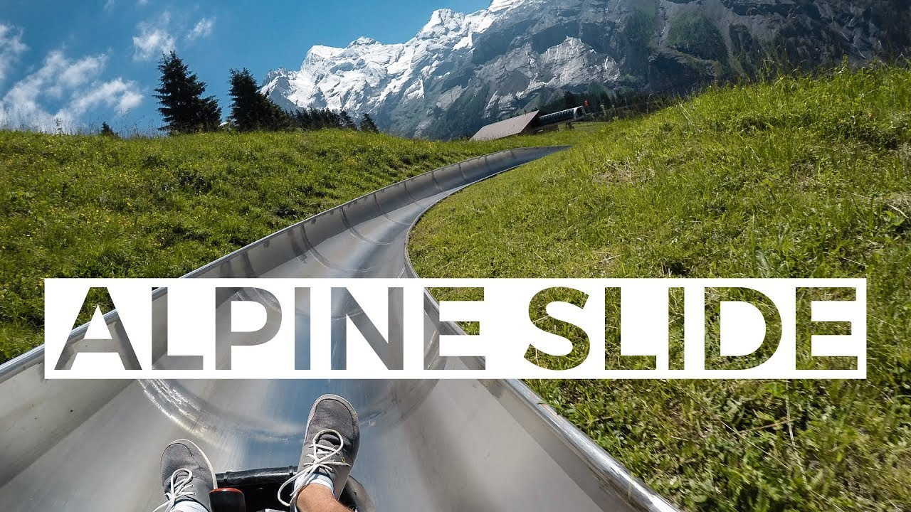 alpine slide in switzerland ian agrimis youtube
