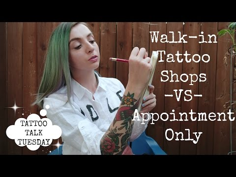 Walk In Tattoo Shops VS Appointment Only: Picking the right one
