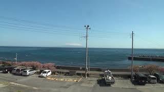 伊豆熱川ー伊豆稲取間車窓風景・伊豆急行2018/03/04