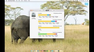 How to check free space on Mac OS X